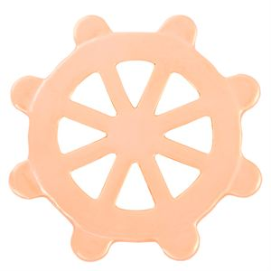 Picture of Large Rose Gold Nautical Wheel Screen